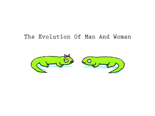 האבולוציה של גברים ונשים