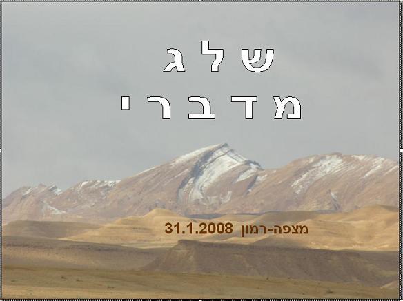 ש ל ג מדברי במצפה רמון 2008