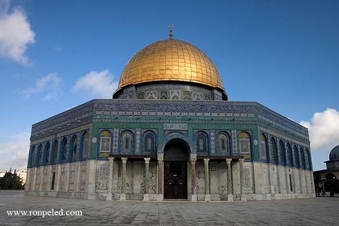 הר הבית בירושלים -  מבט אל המקומות הסגורים לקהל....