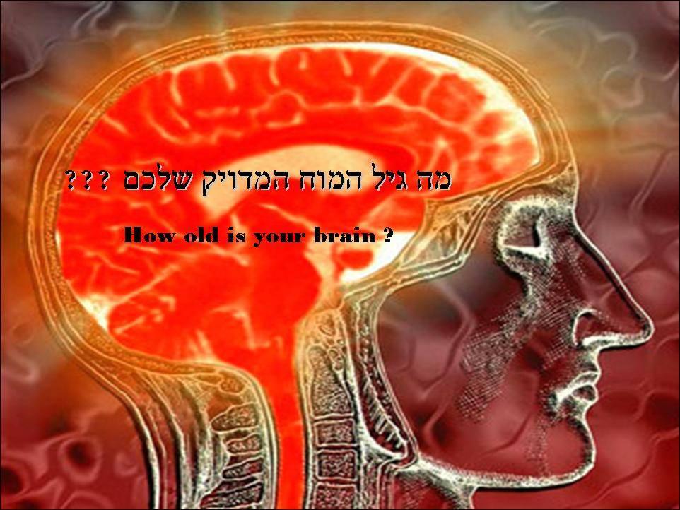 מה גיל המוח המדויק שלכם ?  ? How old is your brain