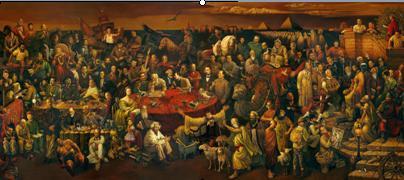 כל המפורסמים בציור אחד