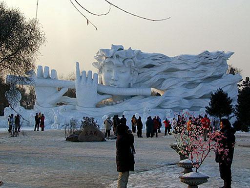 פסטיבל השלג והקרח בחרבין בירת מחוז היילונגג יאנג