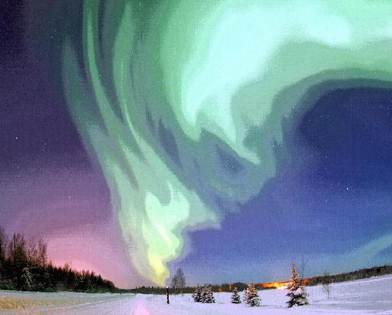 slideman: זוהר הקוטב
