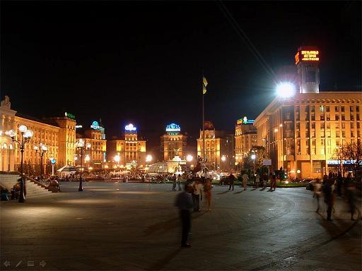 קייב  - תמונות  מהעיר בלילה