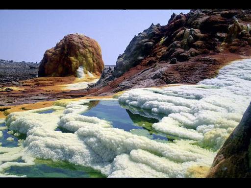הר הגעש דאלול אשר נמצא באתיופיה