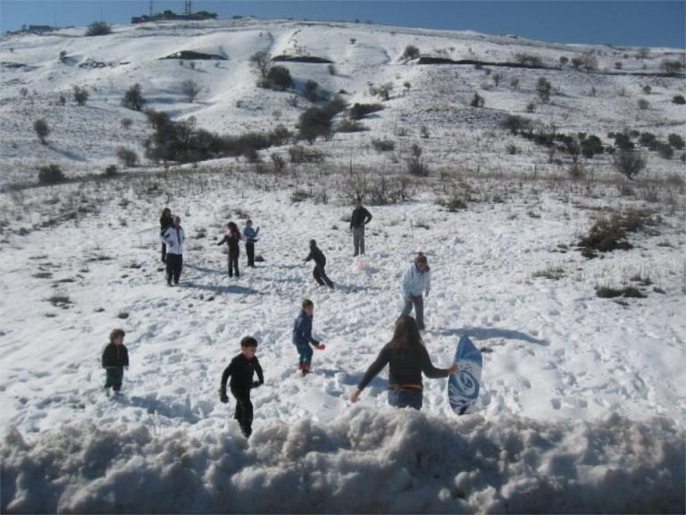 שלג ברמת הגולן חורף 2008