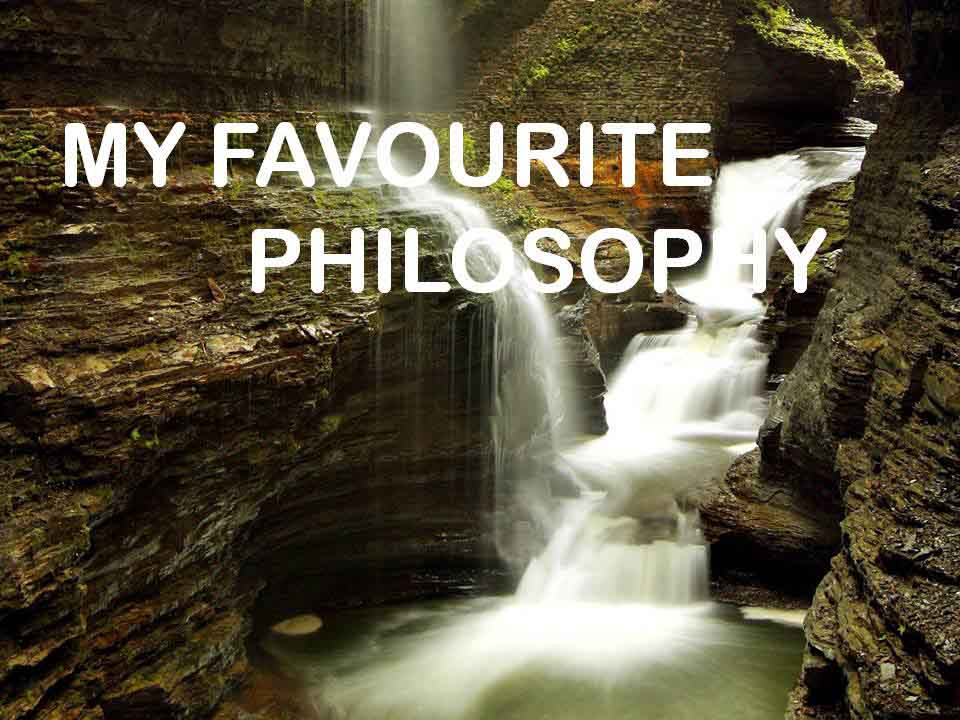 Philosophy in pictures