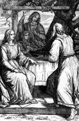 אברהם ושלשת המלאכים באמנות- חלק א