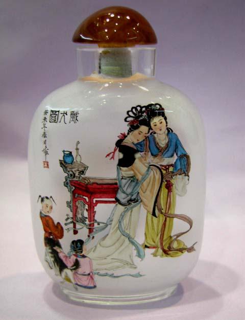 ציורים בתוך הבקבוק-אומנות סינית