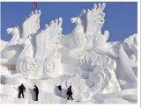 פסלים מקרח ושלג בסין 2009