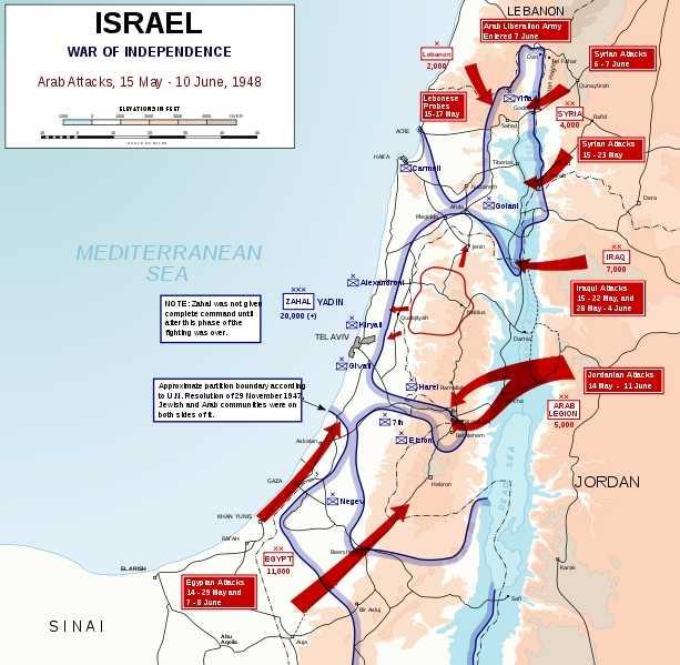 מלחמת העצמאות- פלישת ארצות ערב - 4 מאי 10 יוני