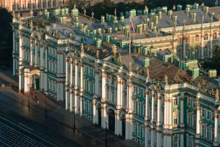 עיר סנקט פטרבורג מגובה מעוף הציפורים