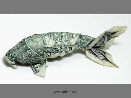 אוריגמי משטרות של דולר
