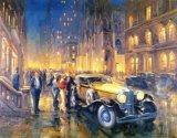 אמן שמצייר מכוניות יפות