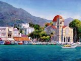 ציורים בצבעי מים של פנטליס זוגרפוס בליווי שיר של נאנא מושקורי