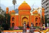פסלים בנוים מתפוזים ולימונים