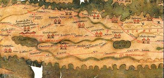 מפת הדרכים הרומית  Tabula Peutingeriana