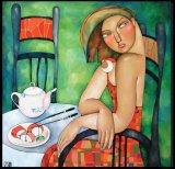 ציורים של הציירת Akzhana Abdalieva