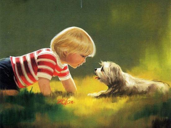 Donald  Zolan Paintings of Children