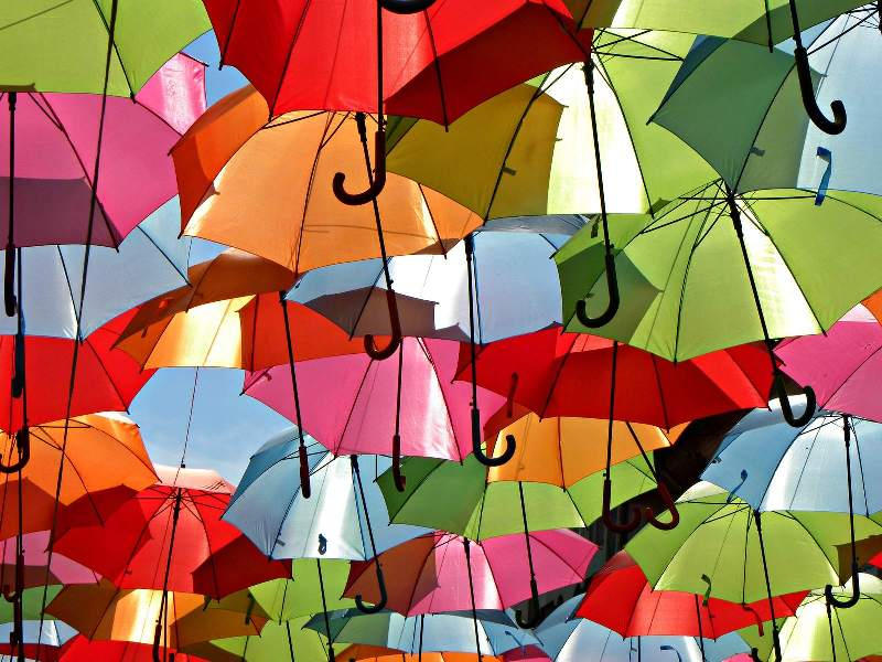 Umbrella Sky in Águeda, Portugal