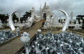 Wat Rong Khun temple in  Thailand