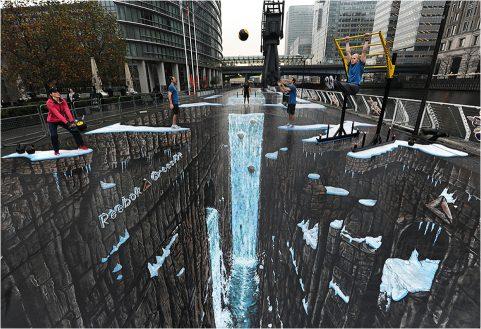 ציורי רחוב תלת מימד מרהיבים