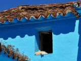 Blue Spanish village Juzcar