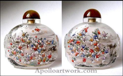 ציורים סינים על בקבוקונים