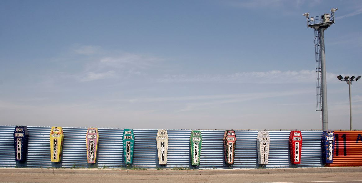 Border of U.S. and Mexico