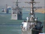 הצי האמריקני חוצה את תעלת סואץ