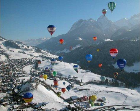 נופים של שוויץ והאלפים