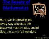 היופי של המתמטיקה